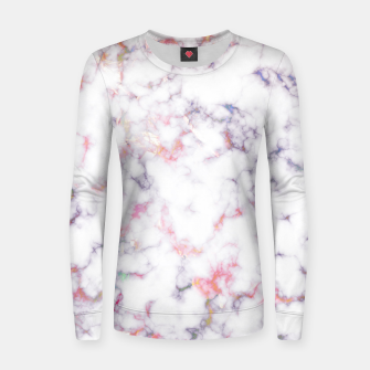 Thumbnail image of Colorful Marble Woman cotton sweater, Live Heroes