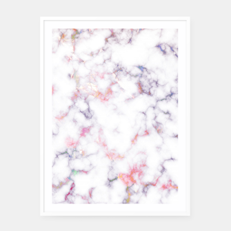 Thumbnail image of Colorful Marble Framed poster, Live Heroes