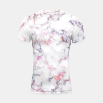 Thumbnail image of Colorful Marble Shortsleeve rashguard, Live Heroes