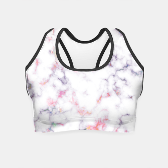 Thumbnail image of Colorful Marble Crop Top, Live Heroes