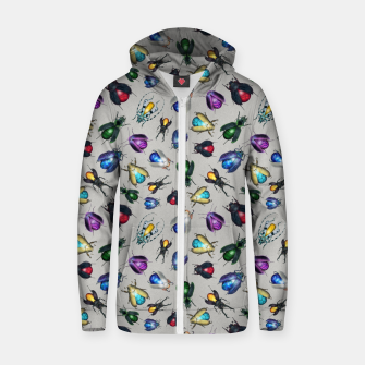 Thumbnail image of Colorful Mineral Beetles Cotton zip up hoodie, Live Heroes