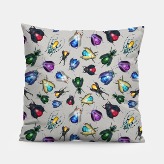 Thumbnail image of Colorful Mineral Beetles Pillow, Live Heroes