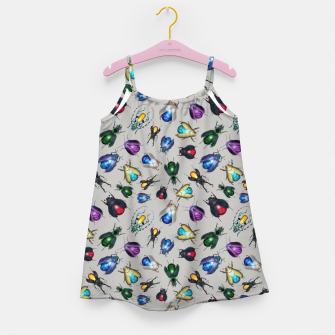 Miniaturka Colorful Mineral Beetles Girl's dress, Live Heroes