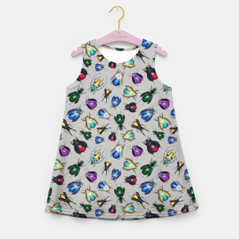 Miniaturka Colorful Mineral Beetles Girl's summer dress, Live Heroes
