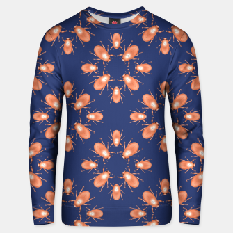 Thumbnail image of Copper Beetles on Navy Background Cotton sweater, Live Heroes