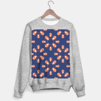 Thumbnail image of Copper Beetles on Navy Background Sweater regular, Live Heroes