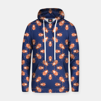 Thumbnail image of Copper Beetles on Navy Background Cotton hoodie, Live Heroes