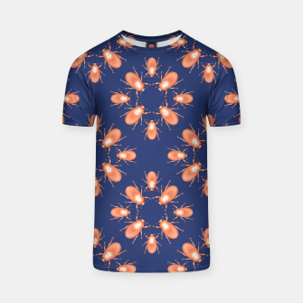 Thumbnail image of Copper Beetles on Navy Background T-shirt, Live Heroes