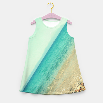 Thumbnail image of Mediterranean lines Girl's summer dress, Live Heroes