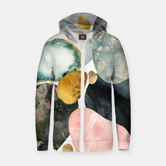 Thumbnail image of Pebble Abstract Cotton zip up hoodie, Live Heroes