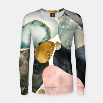 Thumbnail image of Pebble Abstract Woman cotton sweater, Live Heroes