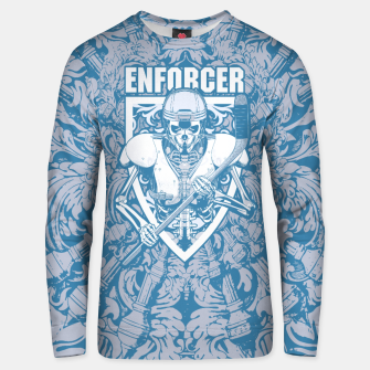 Thumbnail image of Enforcer Ice Hockey Player Skeleton Cotton sweater, Live Heroes