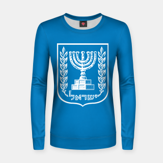 Thumbnail image of Classic Blue and White Emblem of Israel  Woman cotton sweater, Live Heroes