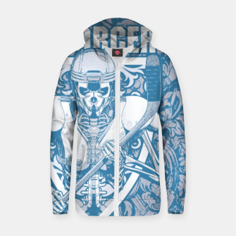 Thumbnail image of Enforcer Ice Hockey Player Skeleton Cotton zip up hoodie, Live Heroes