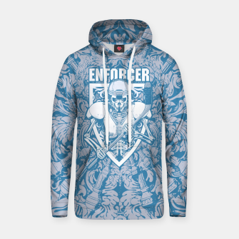 Thumbnail image of Enforcer Ice Hockey Player Skeleton Cotton hoodie, Live Heroes
