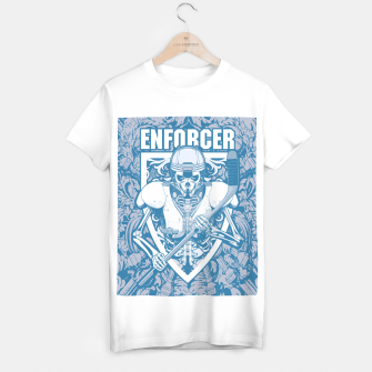 Thumbnail image of Enforcer Ice Hockey Player Skeleton T-shirt regular, Live Heroes