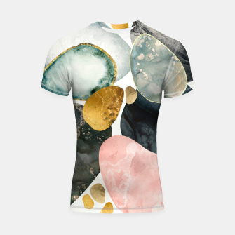 Thumbnail image of Pebble Abstract Shortsleeve rashguard, Live Heroes