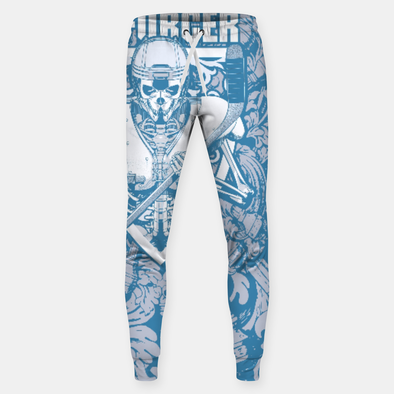 Image of Enforcer Ice Hockey Player Skeleton Cotton sweatpants - Live Heroes