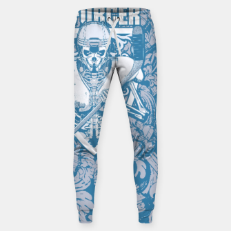 Thumbnail image of Enforcer Ice Hockey Player Skeleton Cotton sweatpants, Live Heroes