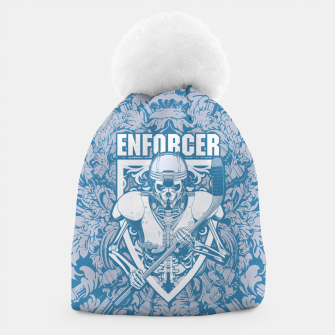 Enforcer Ice Hockey Player Skeleton Beanie thumbnail image