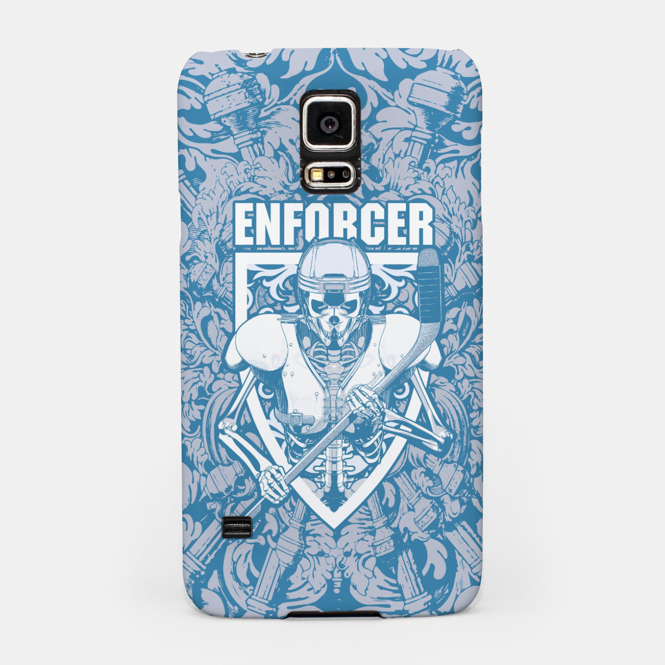Image of Enforcer Ice Hockey Player Skeleton Samsung Case - Live Heroes