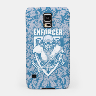 Thumbnail image of Enforcer Ice Hockey Player Skeleton Samsung Case, Live Heroes