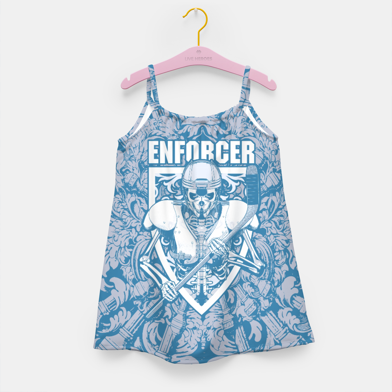 Image of Enforcer Ice Hockey Player Skeleton Girl's dress - Live Heroes