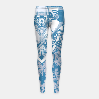 Thumbnail image of Enforcer Ice Hockey Player Skeleton Girl's leggings, Live Heroes