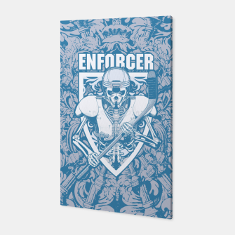 Thumbnail image of Enforcer Ice Hockey Player Skeleton Canvas, Live Heroes