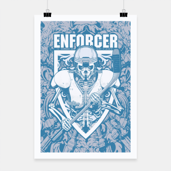 Thumbnail image of Enforcer Ice Hockey Player Skeleton Poster, Live Heroes