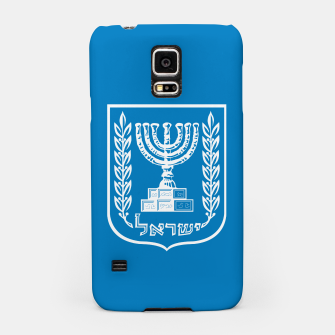 Thumbnail image of Classic Blue and White Emblem of Israel  Samsung Case, Live Heroes