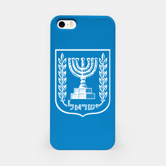 Thumbnail image of Classic Blue and White Emblem of Israel  iPhone Case, Live Heroes