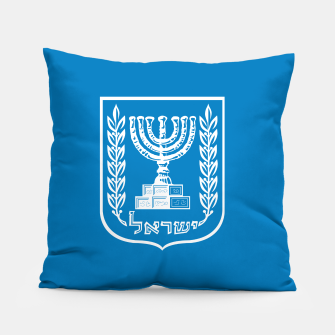 Thumbnail image of Classic Blue and White Emblem of Israel  Pillow, Live Heroes