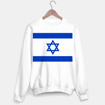 Miniatur Flag of the State of Israel White with Blue Star  Sweater regular, Live Heroes