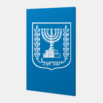 Miniatur Classic Blue and White Emblem of Israel  Canvas, Live Heroes