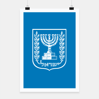 Miniatur Classic Blue and White Emblem of Israel  Poster, Live Heroes