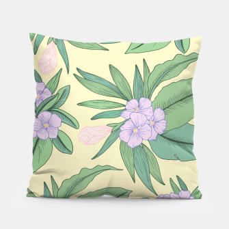 Imagen en miniatura de Jungle Daydream Purple Floral Print Pillow, Live Heroes