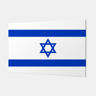 Miniatur Flag of the State of Israel White with Blue Star  Canvas, Live Heroes