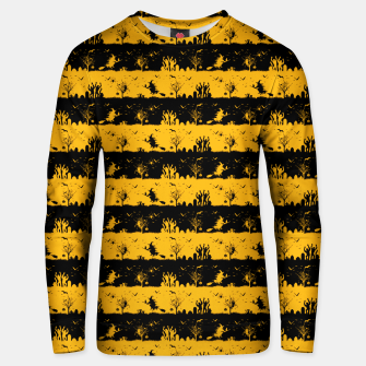Pale Pumpkin Orange and Black Halloween Nightmare Stripes  Cotton sweater thumbnail image