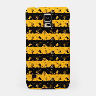 Pale Pumpkin Orange and Black Halloween Nightmare Stripes  Samsung Case thumbnail image