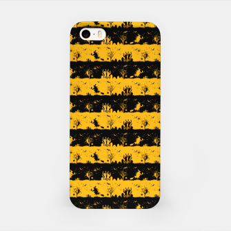 Pale Pumpkin Orange and Black Halloween Nightmare Stripes  iPhone Case thumbnail image