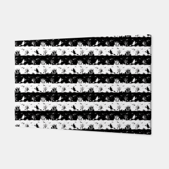 Miniatur Black and White Halloween Nightmare Stripes Canvas, Live Heroes