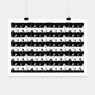 Miniatur Black and White Halloween Nightmare Stripes Poster, Live Heroes