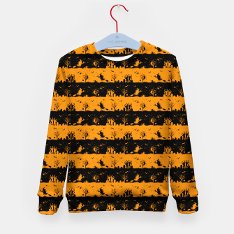 Pumpkin Orange and Black Halloween Nightmare Stripes  Kid's sweater thumbnail image