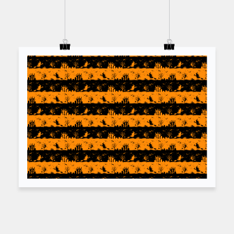 Pumpkin Orange and Black Halloween Nightmare Stripes  Poster thumbnail image