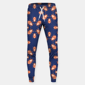 Thumbnail image of Copper Beetles on Navy Background Cotton sweatpants, Live Heroes
