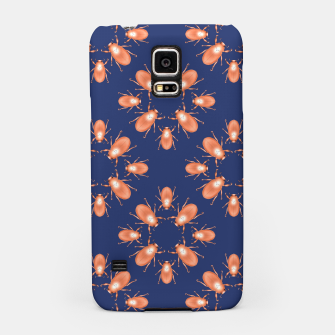 Thumbnail image of Copper Beetles on Navy Background Samsung Case, Live Heroes