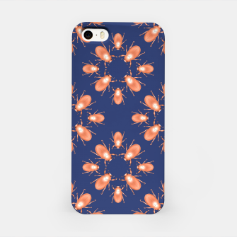 Thumbnail image of Copper Beetles on Navy Background iPhone Case, Live Heroes