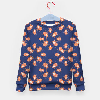 Thumbnail image of Copper Beetles on Navy Background Kid's sweater, Live Heroes