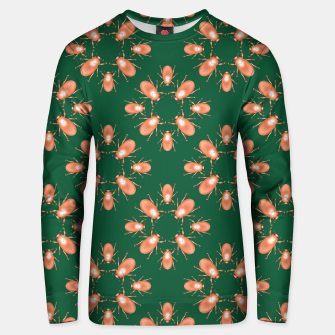 Thumbnail image of Copper Beetles on Green Background Cotton sweater, Live Heroes